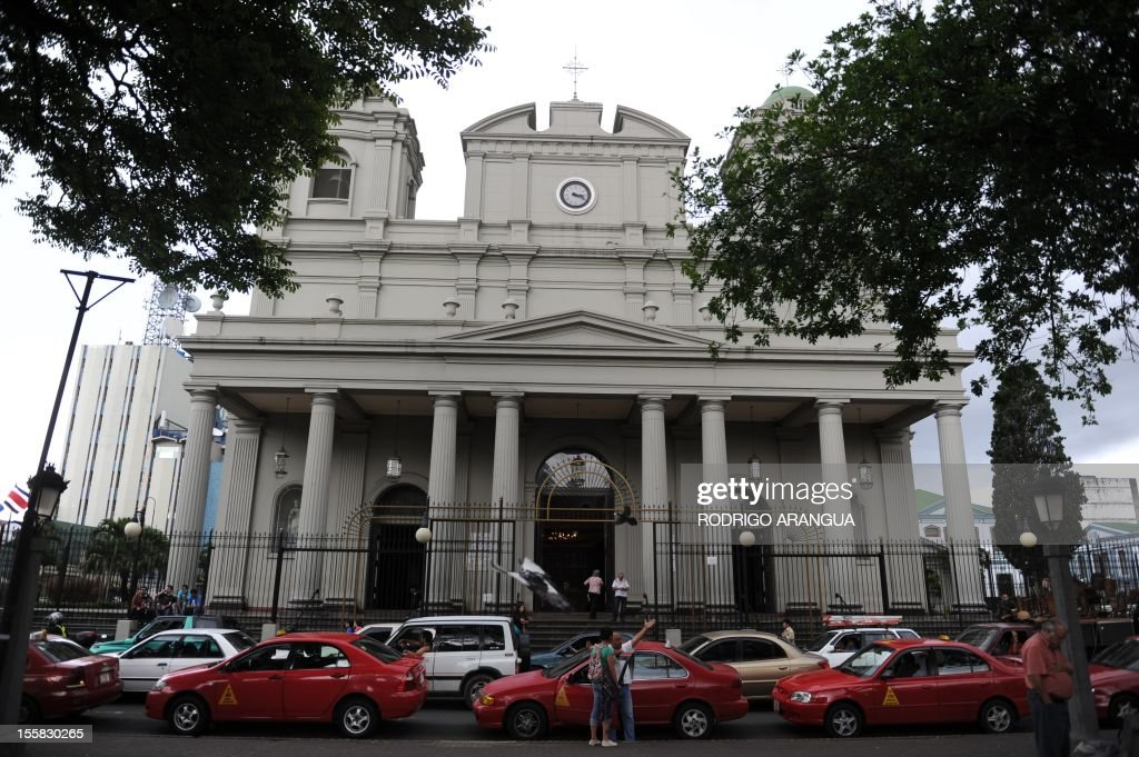 Picture of the Cathedral in downtown San Jose, Costa Rica, taken on November 8, 2012. AFP PHOTO/Rodrigo ARANGUA /