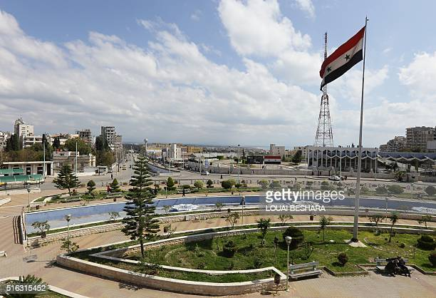 A picture of the coastal city of Latakia the provincial capital of the heartland of Syrian president's Alawite sect on March 18 2016 / AFP / LOUAI...