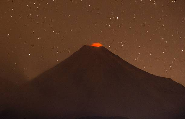 TOPSHOT Picture Of The Colima Volcano Also Known As The Volcan - Active volcanoes in mexico