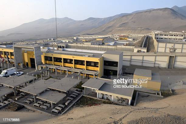 Picture of the containment areas of the Ancon 2 prison part of the Piedras Gordas Model Penitentiary complex about 12 km north of Lima taken on...