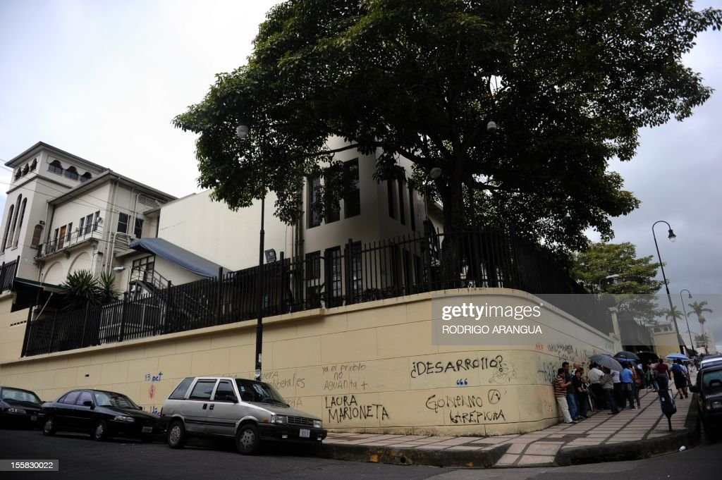Picture of the Costa Rican Congress in downtown San Jose, taken on November 8, 2012. AFP PHOTO/Rodrigo ARANGUA /