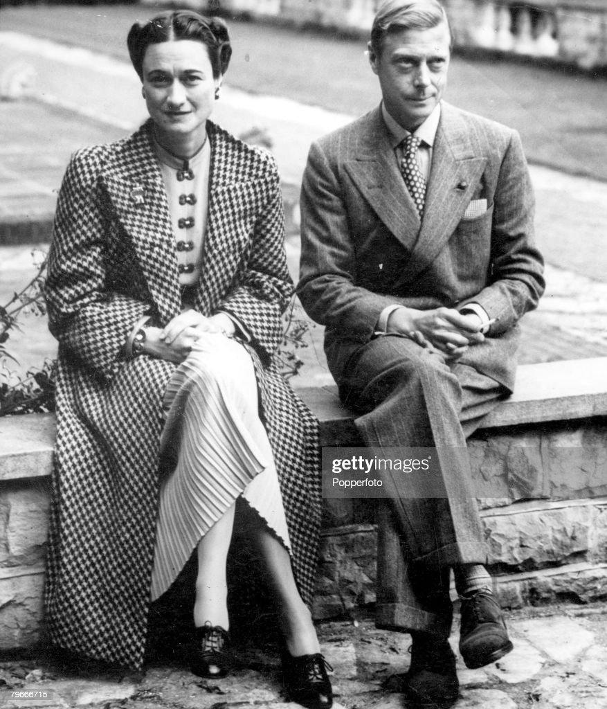 Duke And Duchess Of Windsor At Hartfield House : News Photo