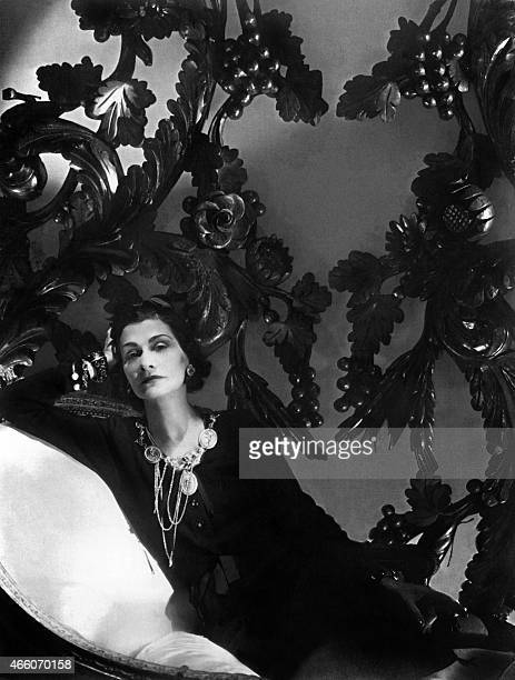 Picture of the famous french high fashion designer Coco Chanel taken in 1944 in Paris AFP PHOTO