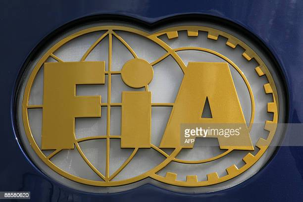 Picture of the FIA logo taken in the paddock of the Silverstone circuit on June 19 2009 in Silverstone before the first free practice session of the...