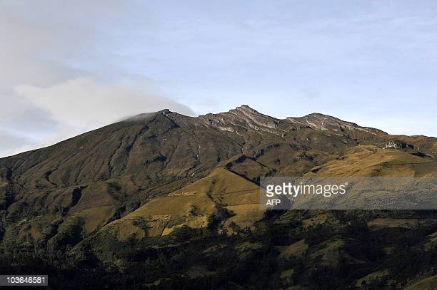 Picture of the Galeras volcano seen from the outskirts of Pasto Nariño department Colombia on August 26 2010 Colombia on Wednesday lowered an alert...