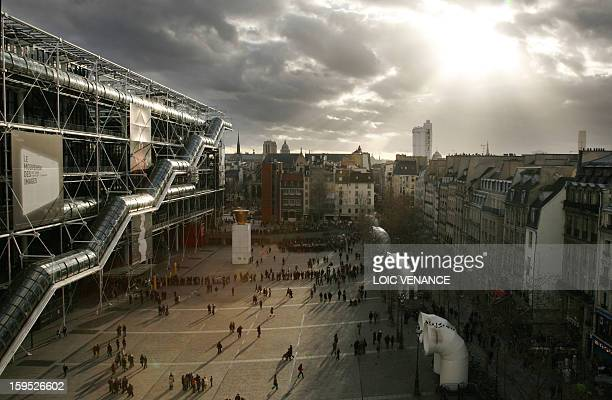 Picture of the Georges Pompidou Centre made 21 January 2007 in Paris Paris' Pompidou Centre the mammoth glass and steel arthouse wrapped in coloured...
