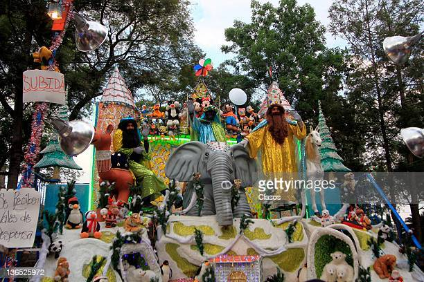 Picture of the giant Nativity in the tradition of Three Kings on January 5 2011 in Mexico City Mexico