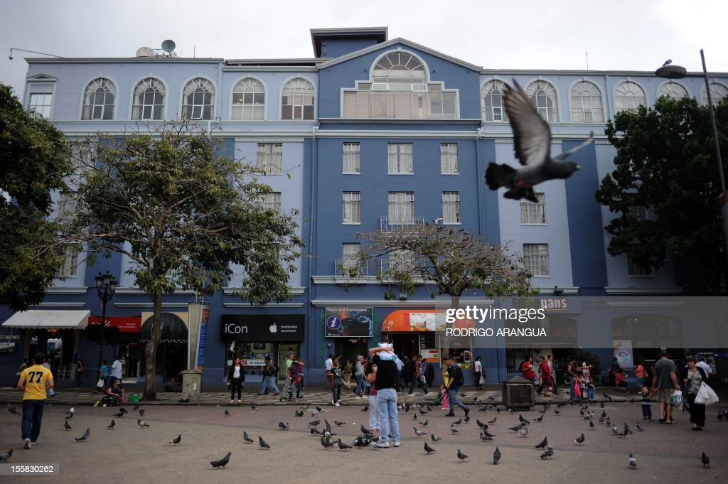 Picture of the Hotel Costa Rica in downtown San Jose, Costa Rica, taken on November 8, 2012. AFP PHOTO/Rodrigo ARANGUA /