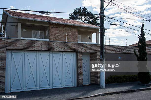 Picture of the house of Aparecida Schunck Flosi Palmeira, mother-in-law of Formula One boss Bernie Ecclestone, in Sao Paulo, Brazil, taken on July...