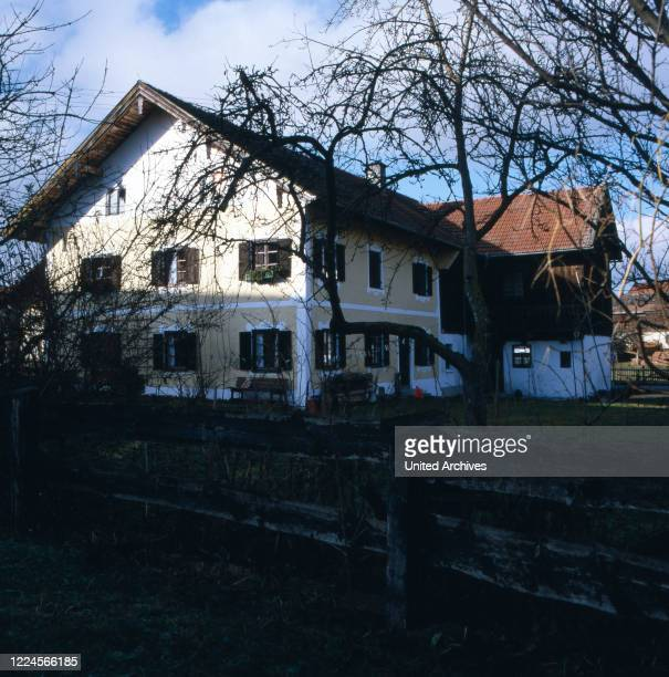 Picture of the house of the german actor Siegfried Rauch, Germany, 1980.