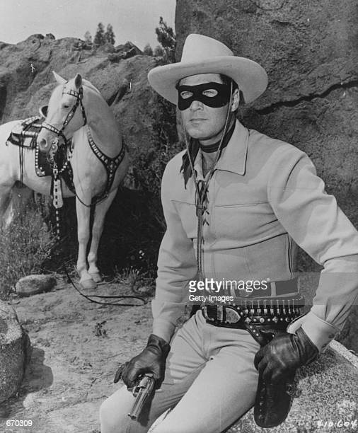 A picture of the late actor Clayton Moore in his Lone Ranger costume which is up for an online auction from October 2031 2000 at sothebysamazoncom...