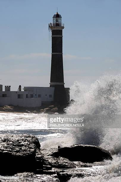 Picture of the lighthouse of Jose Ignacio in Maldonado Uruguay taken on September 15 2010 AFP PHOTO/Pablo PORCIUNCULA