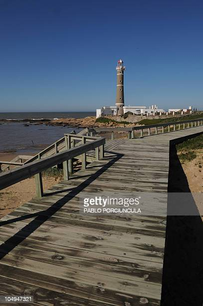 Picture of the lighthouse of Jose Ignacio in the department of Maldonado Uruguay taken on September 15 2010 AFP PHOTO/Pablo PORCIUNCULA