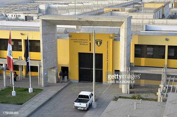 Picture of the main entrance of the Ancon 2 prison part of the Piedras Gordas Model Penitentiary complex about 12 km north of Lima taken on August 29...