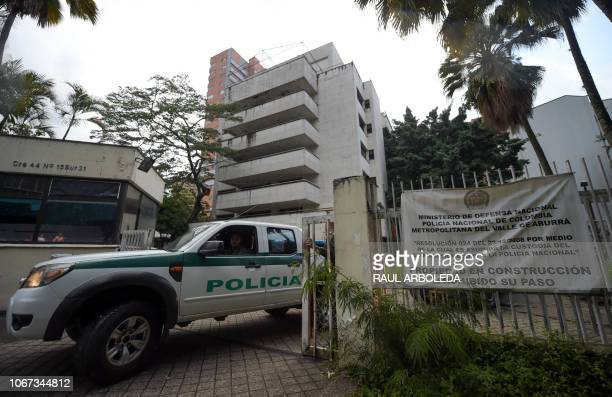Picture of the Monaco building, which was once home to Colombian drug lord Pablo Escobar, in Medellin, Colombia, taken on November 29, 2018. -...