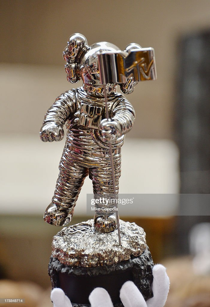 A picture of the new MTV Video Music Awards Moonman on NBC's 'Today' at the NBC's TODAY Show on July 12, 2013 in New York, New York.