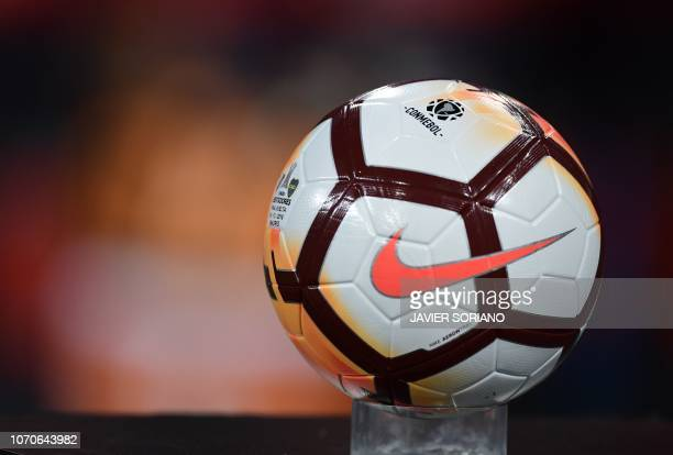 Picture of the official ball to be used in the second leg match of the allArgentine Copa Libertadores final Between River Plate and Boca Juniors at...