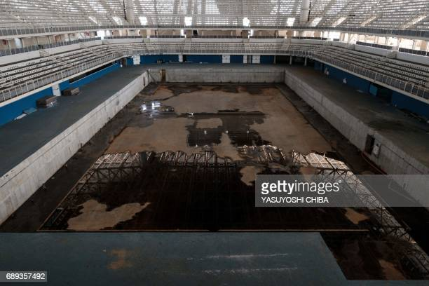 Picture of the Olympic Aquatics Stadium which hosted the swimming competition at the Rio 2016 Olympic and Paralympic Games at the Olympic Park in Rio...