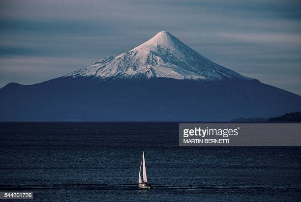 Picture of the Osorno Volcano seen from Puerto Varas 1150 km south of Santiago Chile on July 1 2016 as the XI Pacific Alliance Summit is being held...
