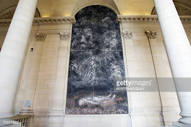 Picture of the painting 'Athanor' made by German artist Anselm Kiefer especially for this location in the Louvre Museum 24 October 2007 at the Louvre...