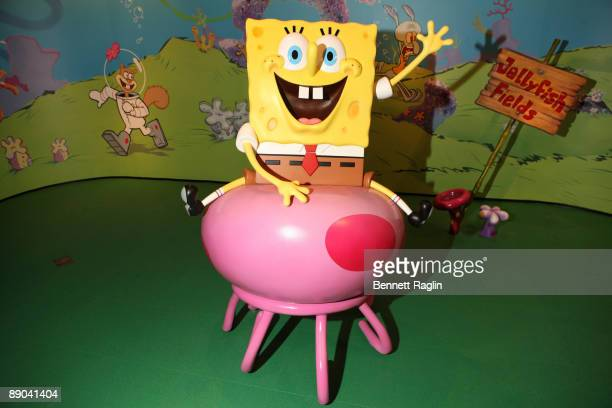 A picture of the Spongebob Squarepants wax figure unveiling at Madame Tussauds on July 15 2009 in New York city