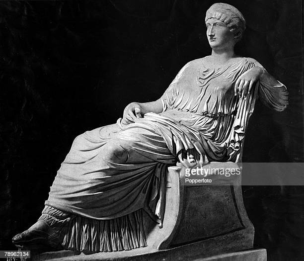 A picture of the statue of Agrippa the younger the Mother of Emperor Nero her statue stands in the Capitoline Museum in Rome