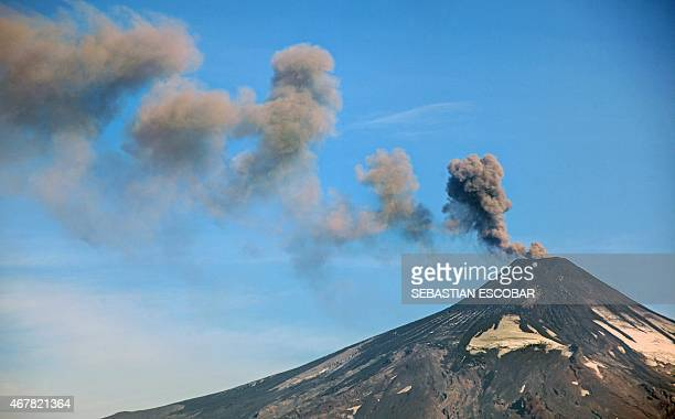 Picture of the Villarrica volcano taken from Pucon some 800 km south of Santiago on March 27 2015 Part of southern Chile is on orange alert because...