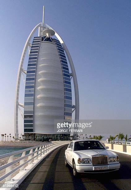 Picture of the world's tallest hotel Dubai's Burj al Arab which was unveiled to the media 28 November 1999 The 321meter building sized up for the...