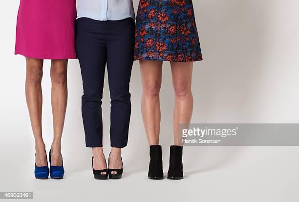 picture of three different women's legs - パンプス ストックフォトと画像