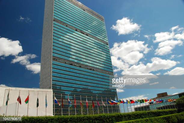picture of united nations flags.  photo taken friday may 23, 2008. - 国際法 ストックフォトと画像