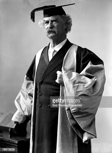 A picture of US writer and journalist Mark Twain pseudonym of Samuel Langhorne Clemens