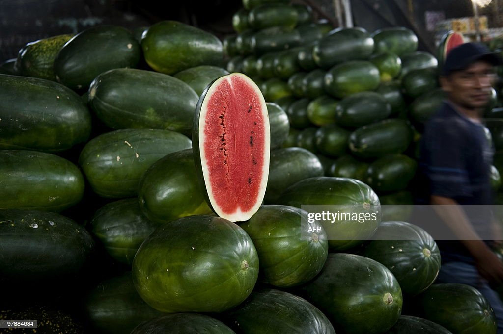 Picture of watermelons for sale at the w : News Photo