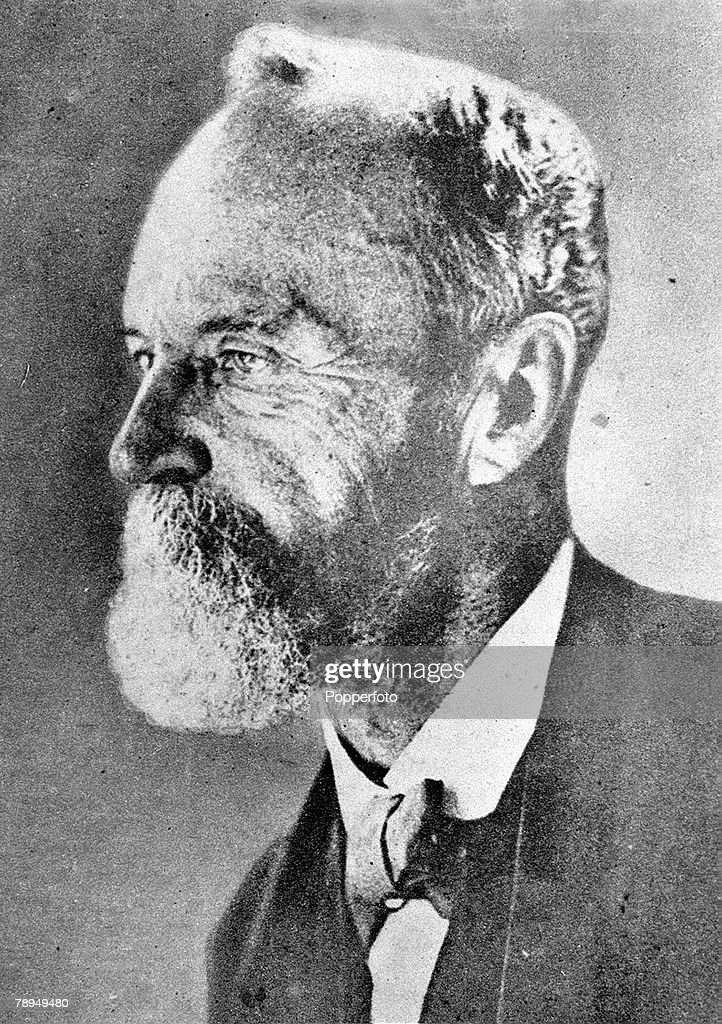 A picture of William James (1842-1910), the American philosopher and psychologist, who was the brother of Henry James