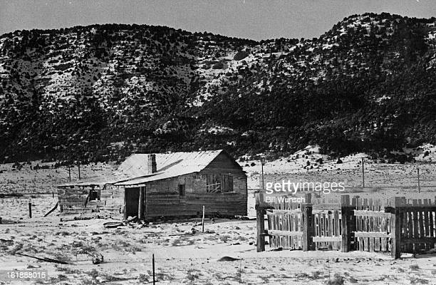 JAN 1976 JAN 3 1976 JAN 4 1976 Picture of Winter Serenity An abandoned ranch gives an impression of solitude and serenity after getting a fresh...