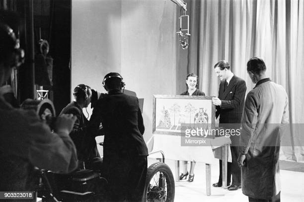 Picture Page television magazine programme seen here being broadcast from the BBC studios at Alexandra Palace January 1939 Our picture Shows...