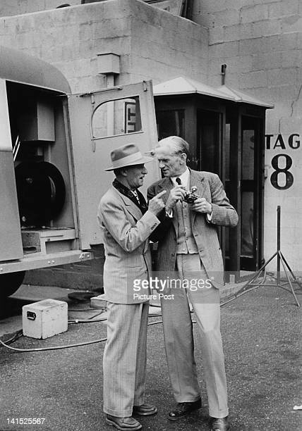 Picture Post editorial staff writer Lionel Birch with photographer Kurt Hutton Hollywood 1951 Original publication Picture Post 5298 We Go To...