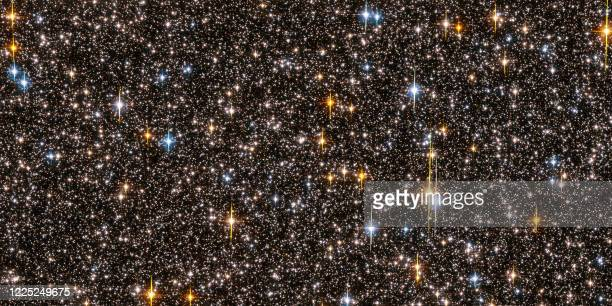 Picture released 04 October 2006 by the European Space Agency shows one-half of the Hubble Space Telescope field of view with nine stars that are...