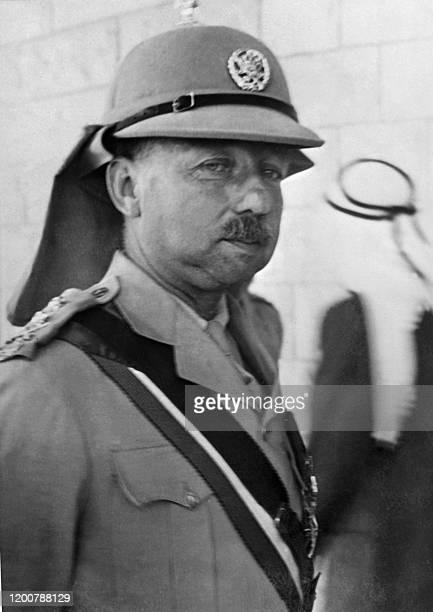 Picture released 27 April 1948 shows Lieutenant-General John Bagot Glubb, alias Glubb Pasha , who commanded and trained Transjordan's Arab Legion...