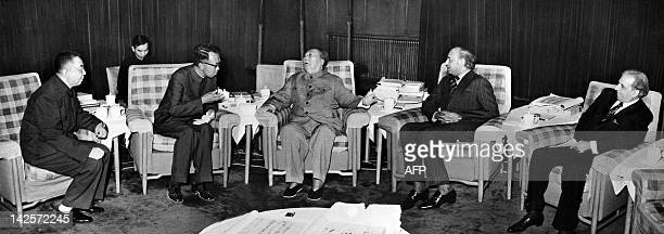 A picture released by Chinese official agency shows President Mao Zedong on May 27 1976 in Beijing during his meeting with Pakistani Prime minister...