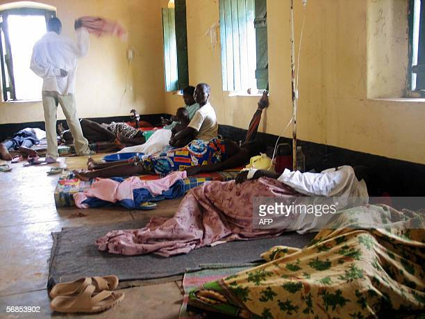 A picture released by the UNICEF and taken 15 February 2006 shows casualties of a Cholera outbreak in the town of Yei south Sudan Doctors from UNICEF...