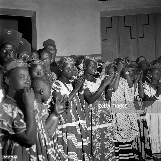 A picture released in 1951 shows Malian women during a dance show