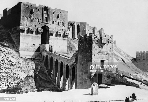 Picture released in the 30s of the Citadel of Aleppo Syria / AFP PHOTO / STRINGER