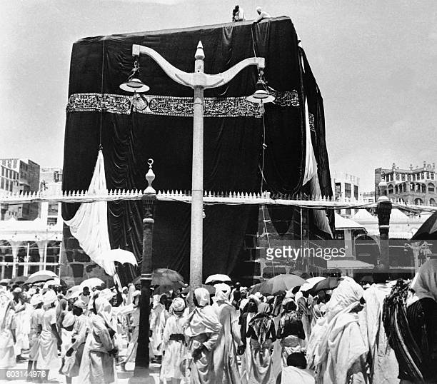 Picture released on 1953 of Muslim pilgrims on Hajj gathering around the Kaaba at the holy city of Mecca / AFP /
