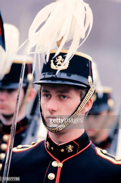 Picture released on 1981 of Crown Prince Philippe of Belgium during a military parade Philippe of Belgium is the eldest child and eldest son of King...