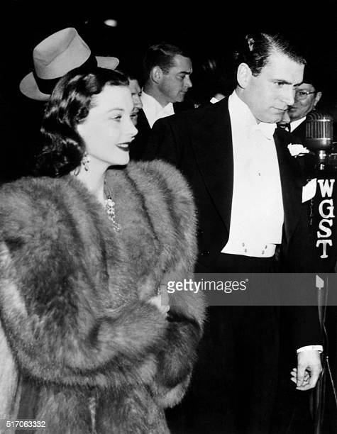 Picture released on December 15 1939 in Atlanta of British actress Vivien Leigh starring as Scarlett O'Hara in 'Gone with the Wind' arriving with her...