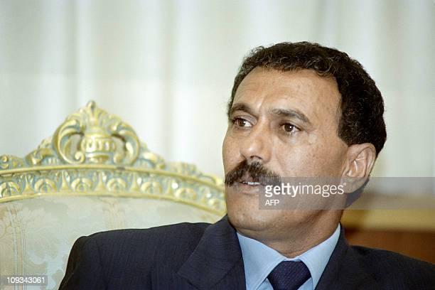 Picture released on November 1 1991 of Yemeni President Ali Abdullah Saleh in Sanaa