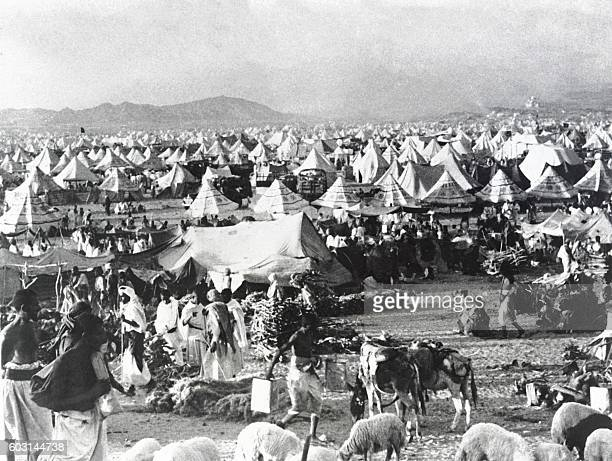Picture released on November 1948 of Muslim pilgrims on Hajj at the holy city of Mecca / AFP /