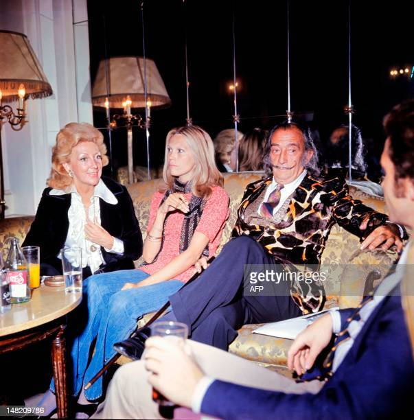 Picture released on October 1971 of Spanish artist Salvador Dali and Amanda Lear
