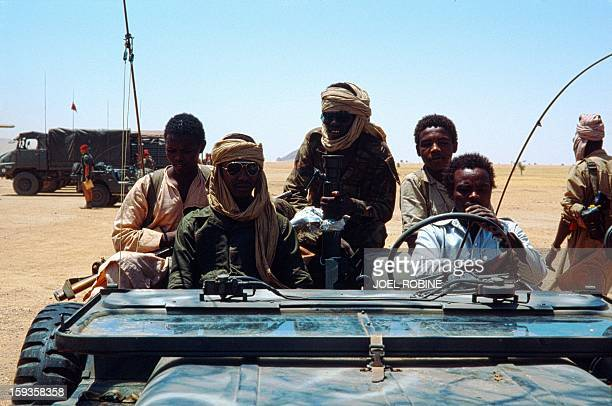 Picture released on September 25 1983 in Biltine of Chadian commanderinchief of the army Idriss Deby during the war in Chad / AFP / JOEL ROBINE