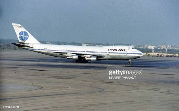 Picture released on September 6 1986 of Pan Am Flight 73 after a 16hour siege of the Boeing 747121 hijacked on September 5 at Karachi airport in...